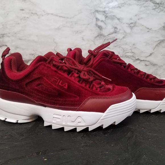 1dae6e07d11e Fila Shoes   Disruptors Ll Velvet Burgundy Womens Sz 9   Poshmark